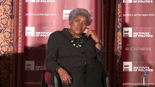 WGN Former Democratic National Committee Chairwoman Donna Brazile who recently wrote a tellall book 'Hacks' that upset many Democrats spoke at Ida...