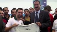Former FC Barcelona and Spanish star Xavi on Thursday visited a Palestinian refugee camp near Amman the day after being appointed ambassador in an...