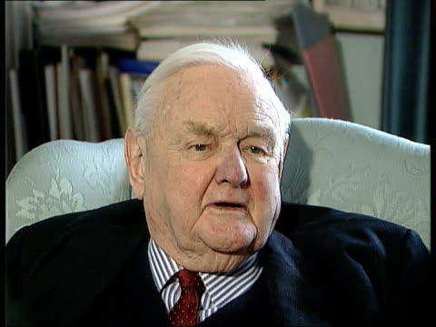 Former head of the appeal court dies ITN Lord Hailsham interview SOT He won almost every academic distinction/ he was innovating judge/ he judged...