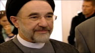 Former Iranian President opens Institute of Iranian Studies at University of St Andrews Khatami speech in Persian SOT Glad to be attending / I hope...