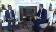 Former Maldives president Mohamed Nasheed with his British lawyer Amal Clooney met on Saturday British Prime Minister David Cameron at 10 Downing...