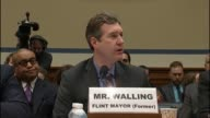 Former Mayor of the City of Flint Michigan Dayne Walling tells the House Oversight and Government Reform Committee that that would put from the...