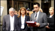 Aamer Anwar and Gail Sheridan statement SCOTLAND Glasgow High Court EXT **flash photography** Aamer Anwar press statement SOT I have a statement to...
