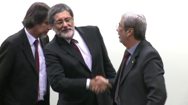 Former Petrobras president Sergio Gabrielli is heard by the Parliamentary commission in charge of the Petrobras probe