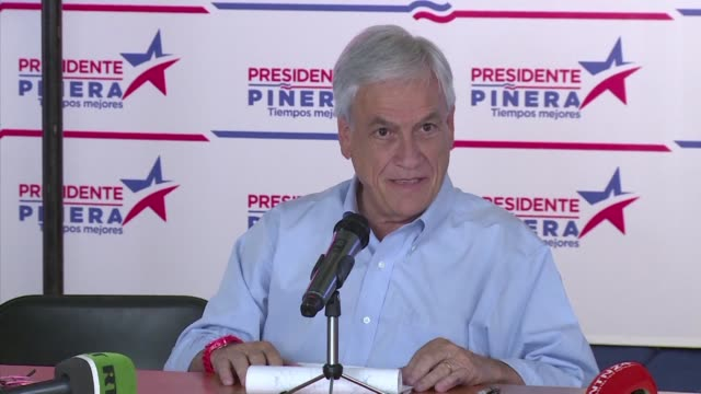 Former president and current presidential candidate the conservative billionaire Sebastian Pinera said he would appeal to the moderate center to...
