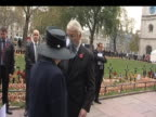 Former Prime Ministers Lady Margaret Thatcher and John Major attend memorial service to commemorate World War One soldiers Westminster 11 November...