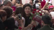 Former Thai Prime Minister Yingluck Shinawatra appears in court for the final round of defence witness hearings in a long running trial for...