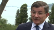 Former Turkish Prime Minister Ahmet Davutoglu saying that nobody can criticise the government for its reaction to the attempted coup and that they...