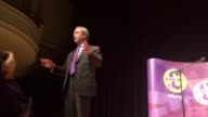 Former Ukip leader Nigel Farage gives a speech at Victoria Hall StokeonTrent ahead of Paul Nuttall's upcoming byelection in the city Mr Farage is...