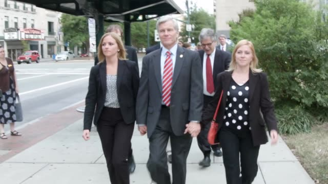 TS Former Virginia Governor Robert McDonnell leaves with his daughters Cailin Young and Rachel McDonnell and his legal team after the second day of...
