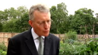 Former Women's Land Army members visit replica allotment in St James' Park with Hilary Benn Hilary Benn MP interview SOT Importance of land girl's...