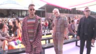 Formula 1 champion Lewis Hamilton and more front row for the Missoni Ready to Wear Spring Summer 2018 Fashion Show in Milan Saturday September 23...