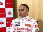 London INT Hamilton interview SOT Says he and Alonso get on well