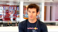 Formula 1 Mark Webber interview ENGLAND London Soho INT Mark Webber interview SOT F1 season hasn't gone as expected so far with traditionally strong...
