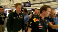 Formula One British Grand Prix Fernando Alonso wins ENGLAND Northamptonshire Silverstone INT Prince Harry towards as shakes hands with Mark Webber...