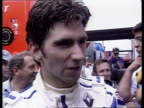 Formula One French Grand Prix Nigel Mansell gains pole position on his return to motor racing Damon Hill interview SOT No doubting Mansell's...