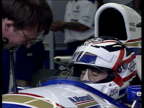 Formula One French Grand Prix Nigel Mansell gains pole position on his return to motor racing FRANCE MagnyCours INT Nigel Mansell in racing car and...