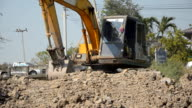 fornt view : Bulldozer is working