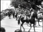 Forrest Cavalry veterans marching on horseback during Confederate reunion / Biloxi Mississippi USA