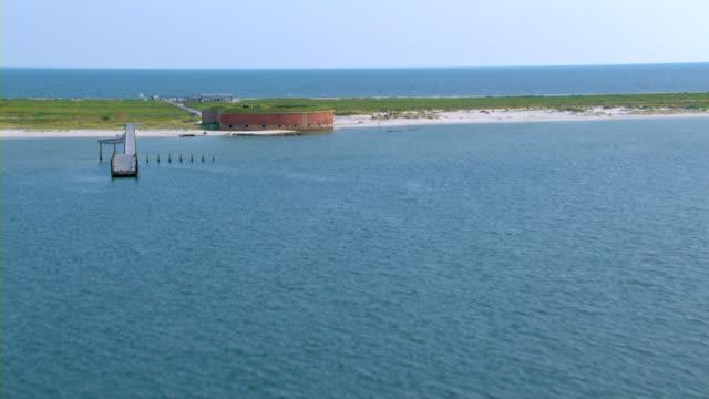 Fort Massachusetts occupies Ship Island in the Gulf Coast.