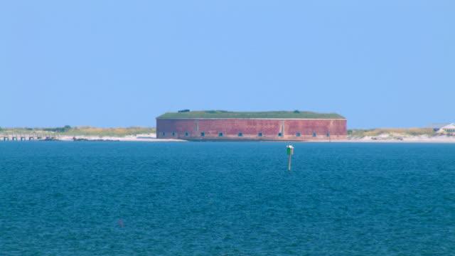 Fort Massachusetts occupies Ship Island on the Gulf Coast.