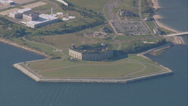 AERIAL Fort Taber / New Bedford, Massachusetts, United States