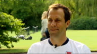 preparations for Wimbledon Closeup of Greg Rusedski Rusedski interview SOT Looking forward to getting back on court and playing with some tennis...
