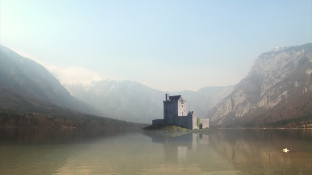 Fortress in middle of the lake