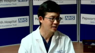 Fortyyearold Matthew Green first British man to be given artificial heart replacement Steven Tsui press conference SOT Matthew Green press conference...