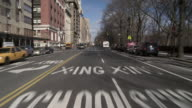 Forward POV driving up Central Park west starting at 61st.