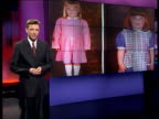 Foster parents to be charged with abduction ITN London GIR i/c as pictures of Bramleys foster daughters on video screen behind