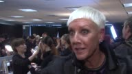 Founder Jan Arnold describes the androgynous shape and length of the models here and the Enigma trend and technique at CND For Alexander Wang New...