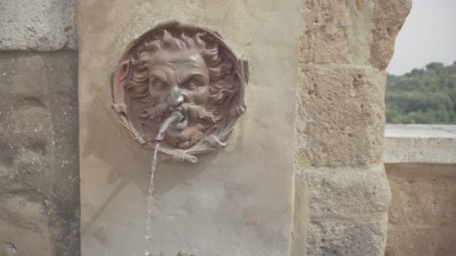 Fontein detail op Pitigliano, Toscane