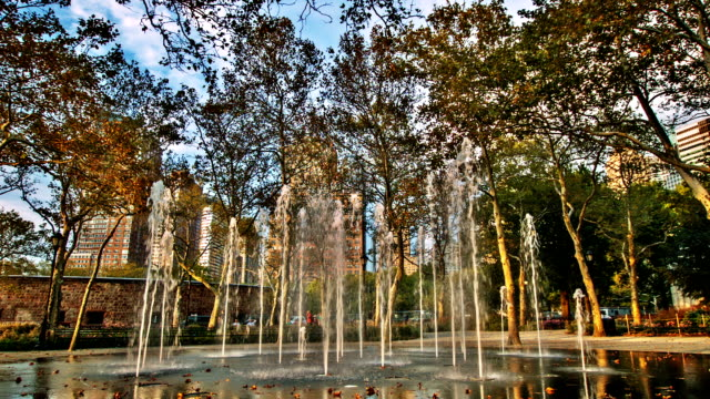 Fountain in Battery park New York
