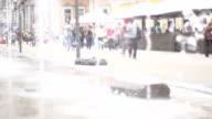 Fountain in Center of Porto Alegre  City