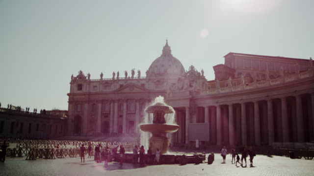 Fountain in front of the St. Peter's Basilica