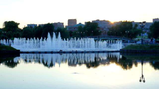 Fountain in the public park.