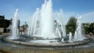 Fountain near Amalienborg in Copenhagen
