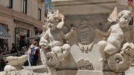Fountain on Duomo Piazza, Amalfi, Costiera Amalfitana (Amalfi Coast), UNESCO World Heritage Site, Campania, Italy, Europe