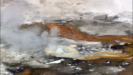 Fountain Paint Pot Geyser  - Aerial View - Wyoming,  Teton County,  helicopter filming,  aerial video,  cineflex,  establishing shot,  United States
