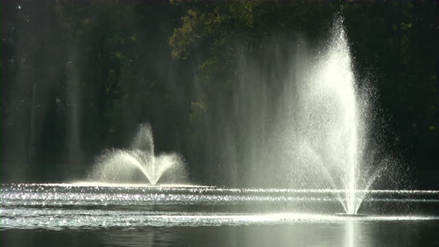 Fountains On A Lake