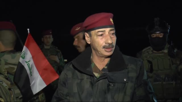 Four battalions of the Iraqi Army equipped with heavy weapons on their way to the 'Nineveh Joint Operations Command' base in the Mahmur region which...