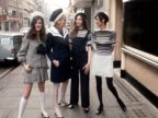 Four models pose on a London street wearing sailorinspired clothes designed by Jorn Langberg for Christian Dior 1968