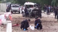 Four Thai army rangers were killed when a roadside bomb tore through their truck while they were securing a road for teachers an army official says...
