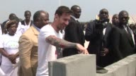 Four time world player of the year Lionel Messi linked up with Gabonese president Ali Bongo Ondimba on Saturday to lay the first stone at a future...