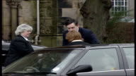 Fourmonthold son of Gordon Brown diagnosed with cystic fibrosis TX Brown helps his wife Sarah from car on arrival at church for funeral of their baby...