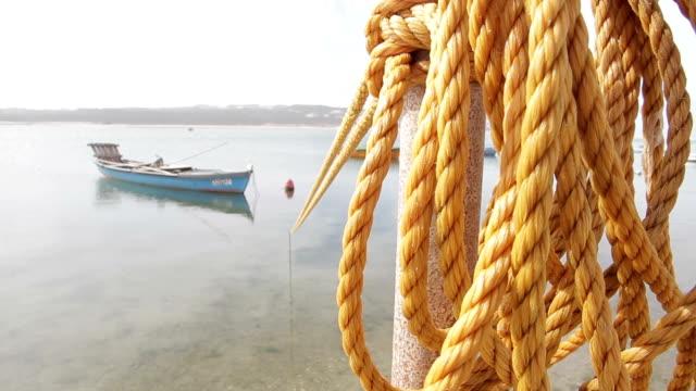 Foz Arelho rivier boot strand