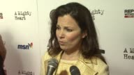 Fran Drescher on what brings her out tonight she came to support Angelina Jolie because Angelina has always been a supporter of her foundation about...