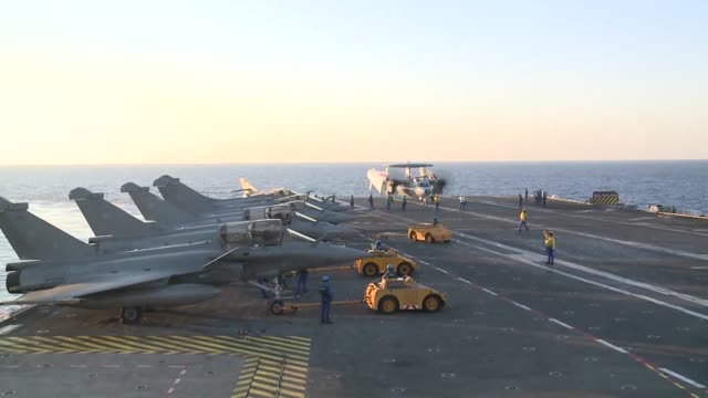 France bombarded Islamic State targets in Syria on Monday from jets from the Charles de Gaulle aircraft carrier newly deployed in the eastern...