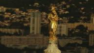 France, Marseille: The Virgin statue of Eugène Lesquene